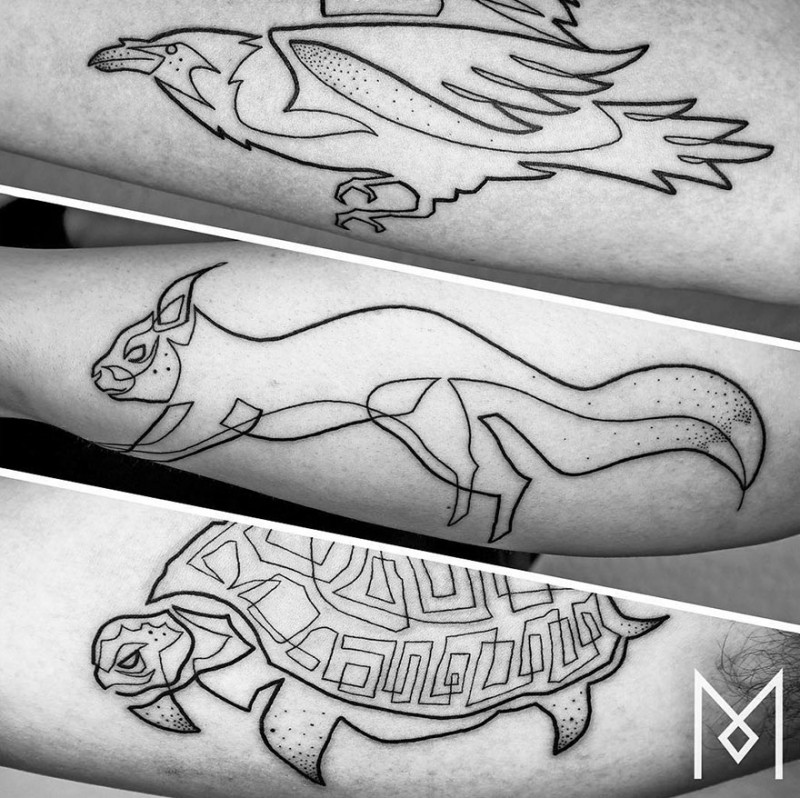 Minimalist-one-line-simple-tattoo-patterns-body-art