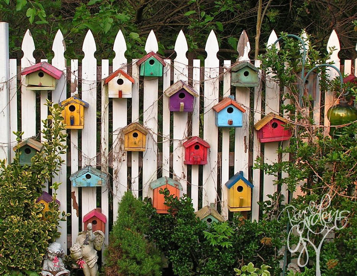creative diy garden fence decoration design ideas 5