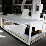 Nap desk that can transform into a bed