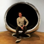 A chair that is made out of an actual Boeing 737 jet engine