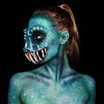 16-year-old self-taught makeup artist turns herself into all sorts of monsters
