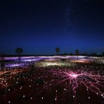 British artist turns desert into fairytale landscape with 50,000 Lights