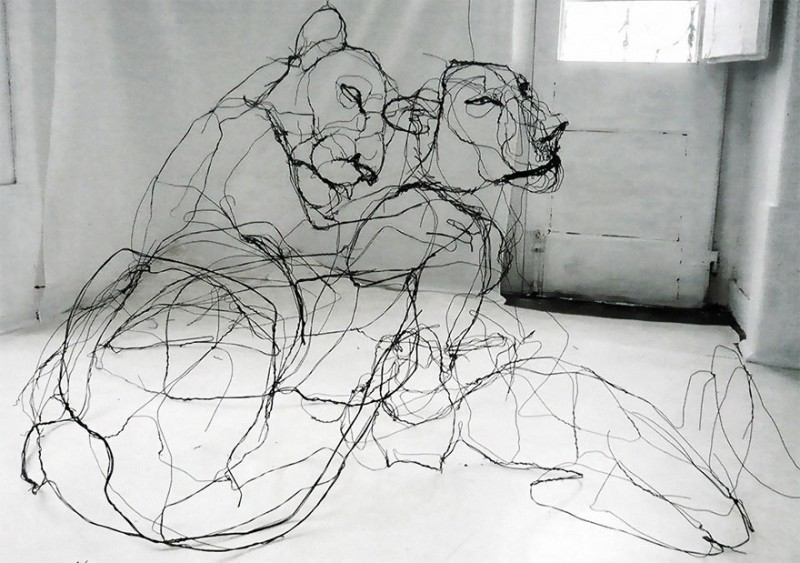 amazing-delicate-3d-objects-wire-animal-sculptures (2)