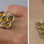 Unique honey-themed jewelry