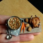 Miniature food created by a medical lab scientist