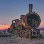 Train graveyard in Bolivia that dates back to the 19th century of South America's industrialization