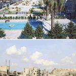 A series of before and after photos shows us what warfare did to Syria