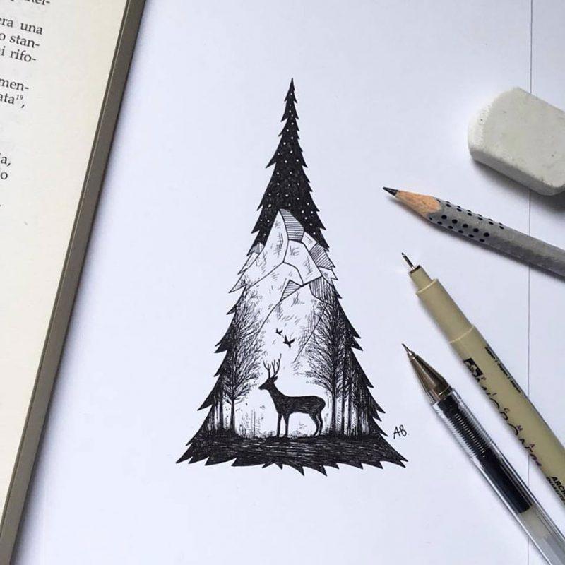 beautiful-pen-ink-animal-trees-illustrations-nature-drawings (5)