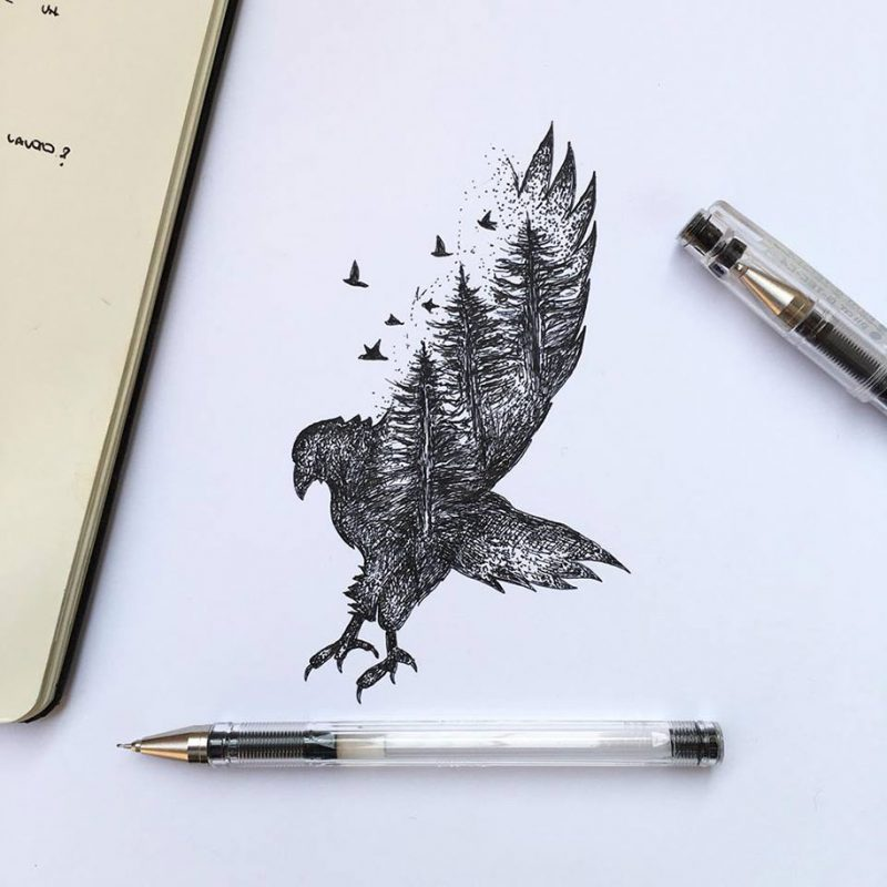 beautiful-pen-ink-animal-trees-illustrations-nature-drawings (7)
