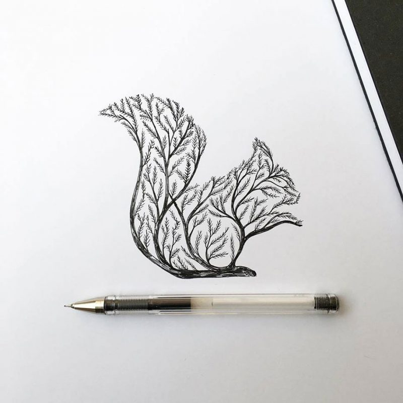 beautiful-pen-ink-animal-trees-illustrations-nature-drawings (9)