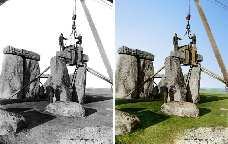 colorized-historic-old-black-and-white-photos-landmarks-under-construction (14)