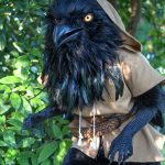 Incredible raven cosplay costume made for Anthrocon