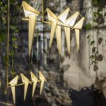 Origami bird lamps swing with the wind