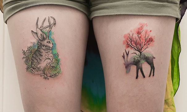 minimal-geometrical-nature-animals-tattoos-design (12)