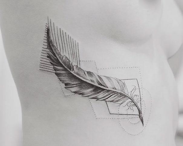 minimal-geometrical-nature-animals-tattoos-design (13)
