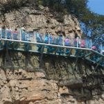 What do you feel when 3,500-ft-high glass walkway cracks under your feet