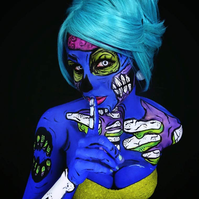 zombies-monsters-creatures-fluorescent-body-painting (10)
