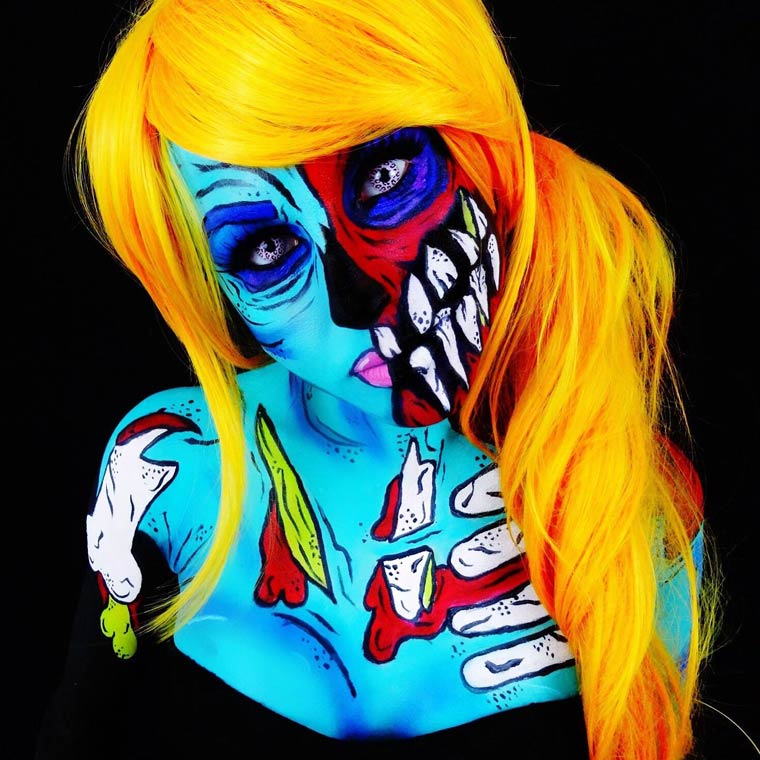 zombies-monsters-creatures-fluorescent-body-painting (12)