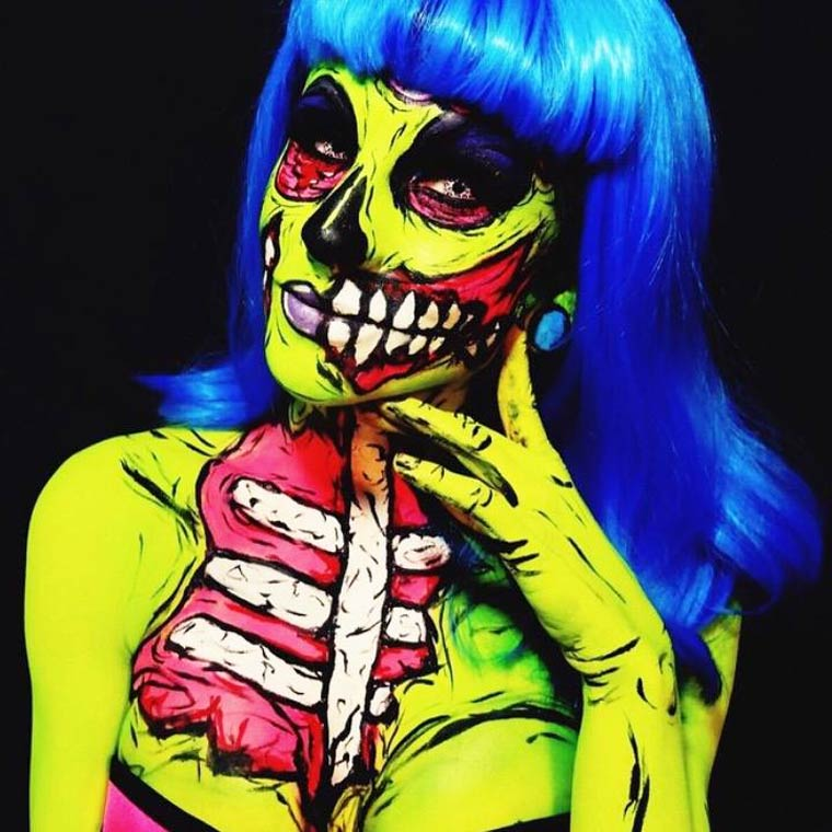 zombies-monsters-creatures-fluorescent-body-painting (15)