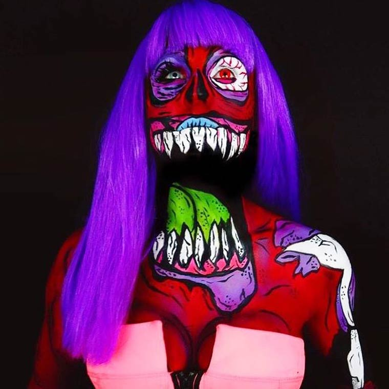 zombies-monsters-creatures-fluorescent-body-painting (16)
