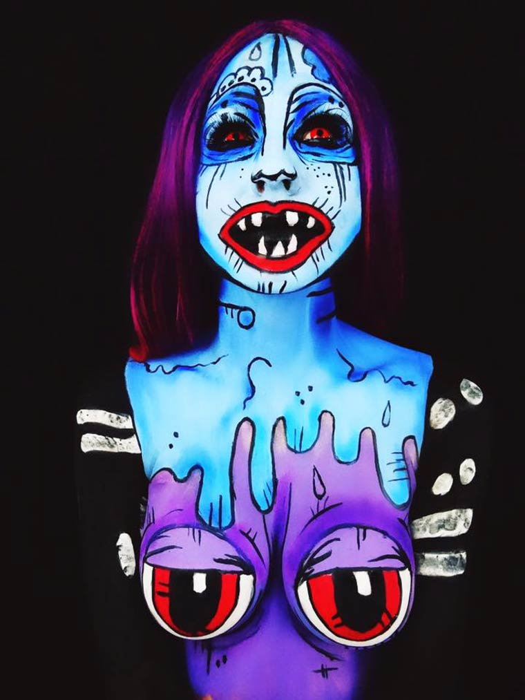 zombies-monsters-creatures-fluorescent-body-painting (17)