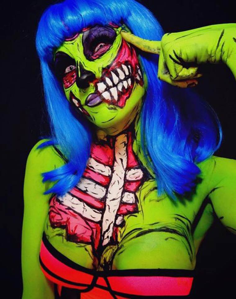 zombies-monsters-creatures-fluorescent-body-painting (4)