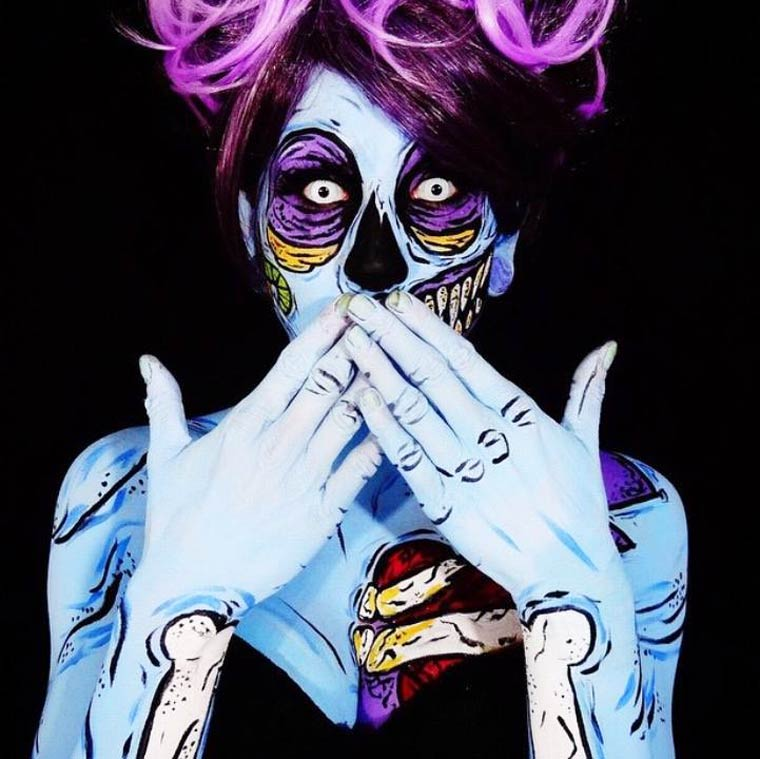 zombies-monsters-creatures-fluorescent-body-painting (6)