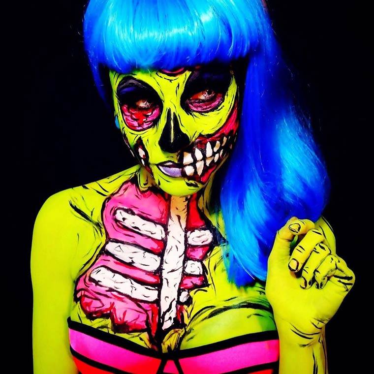 zombies-monsters-creatures-fluorescent-body-painting (7)
