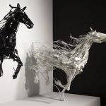 3D Impressionism – Animal sculptures in motion made of reclaimed plastic items