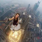 Russian girl takes extremely dangerous selfies