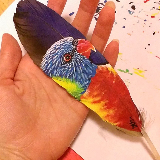 painting-animals-Portraits-Feather (5)