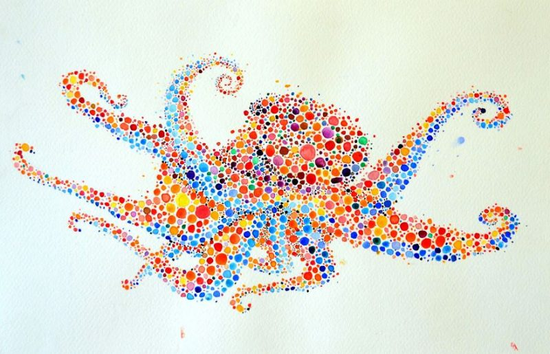 colorful-dotted-animals_paintings-1