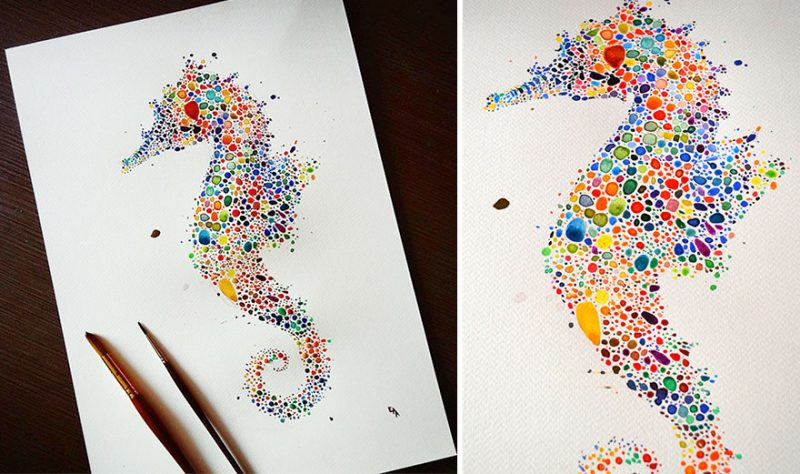 colorful-dotted-animals_paintings-10