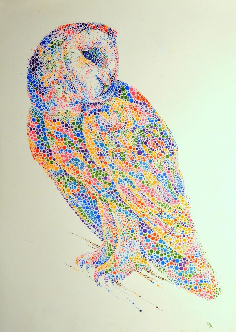colorful-dotted-animals_paintings-2