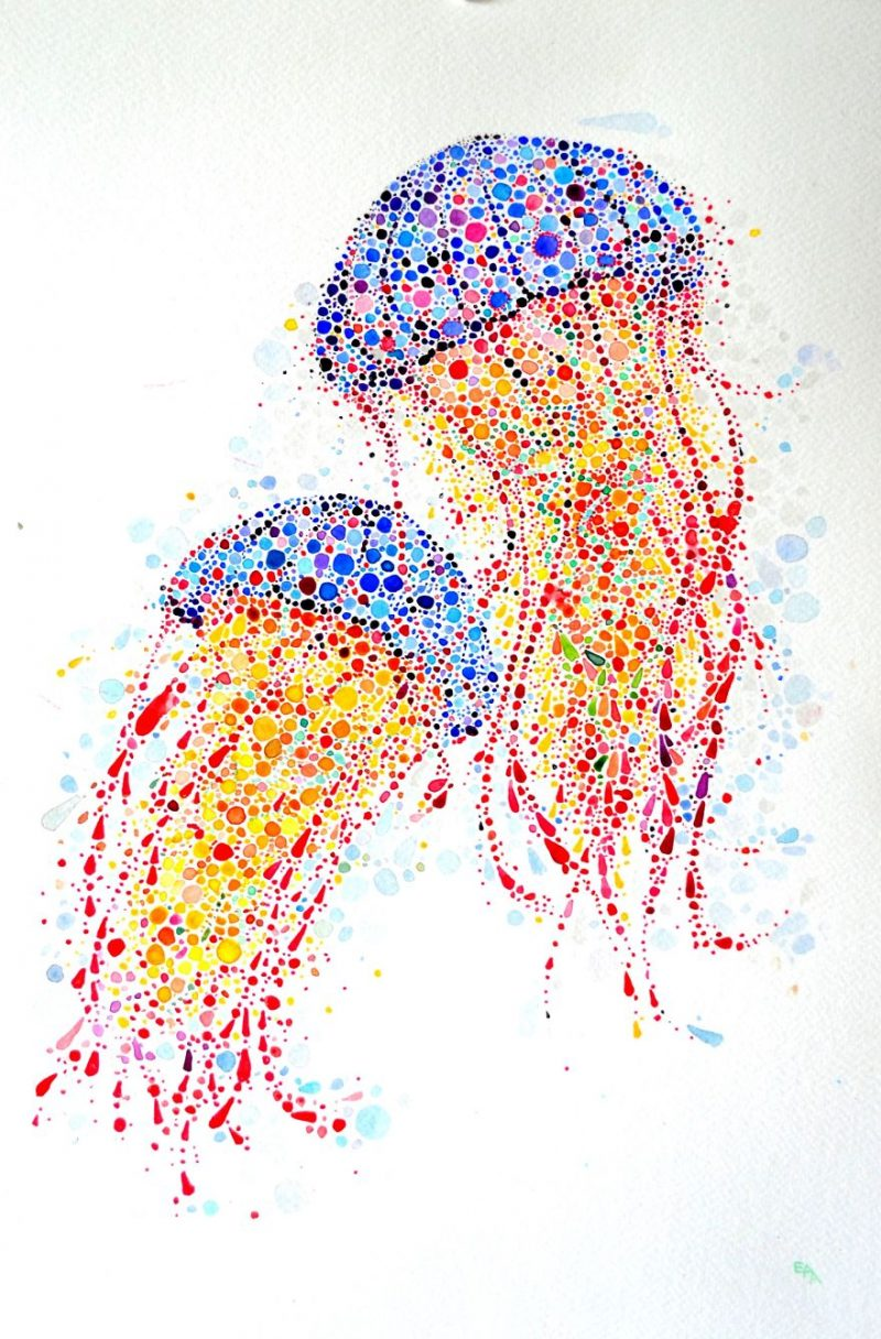 colorful-dotted-animals_paintings-3