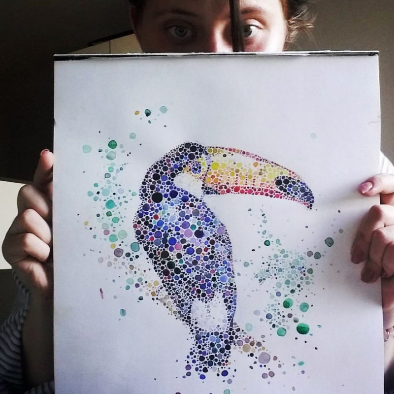 colorful-dotted-animals_paintings-4