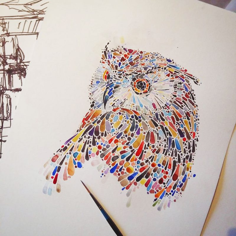 colorful-dotted-animals_paintings-5