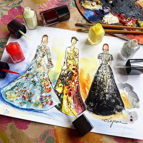 fashion-dress-nail-polish-paintings-2