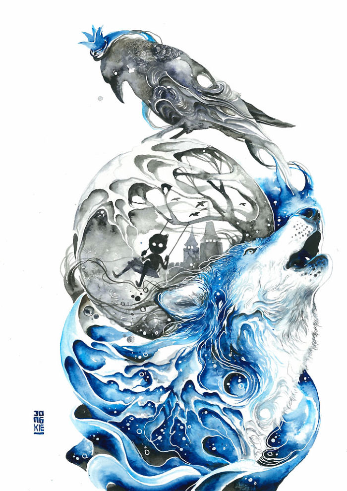 beautiful-Animal-Illustrations-In-Watercolor-paintings (1)