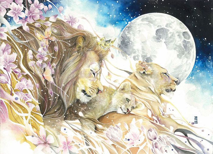 beautiful-Animal-Illustrations-In-Watercolor-paintings (10)