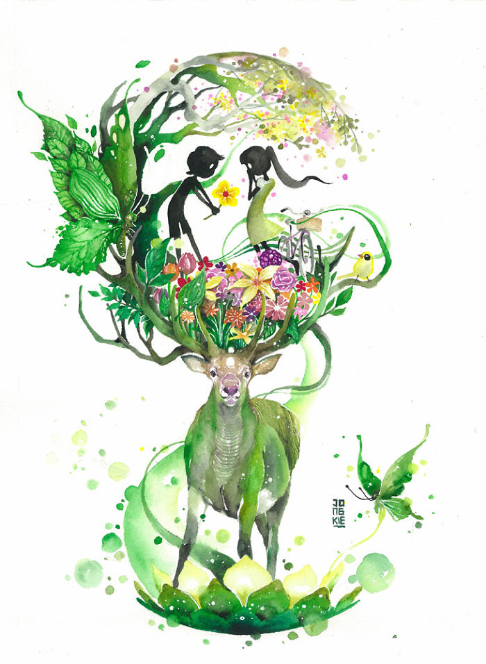 beautiful-Animal-Illustrations-In-Watercolor-paintings (11)