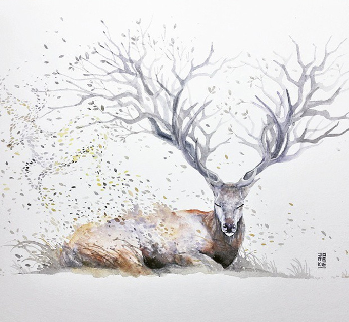 beautiful-Animal-Illustrations-In-Watercolor-paintings (12)