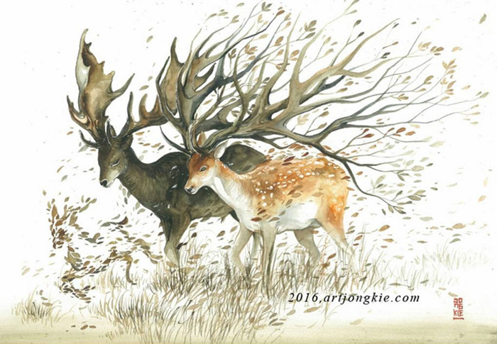 beautiful-Animal-Illustrations-In-Watercolor-paintings (14)