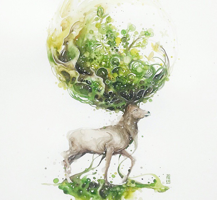 beautiful-Animal-Illustrations-In-Watercolor-paintings (15)