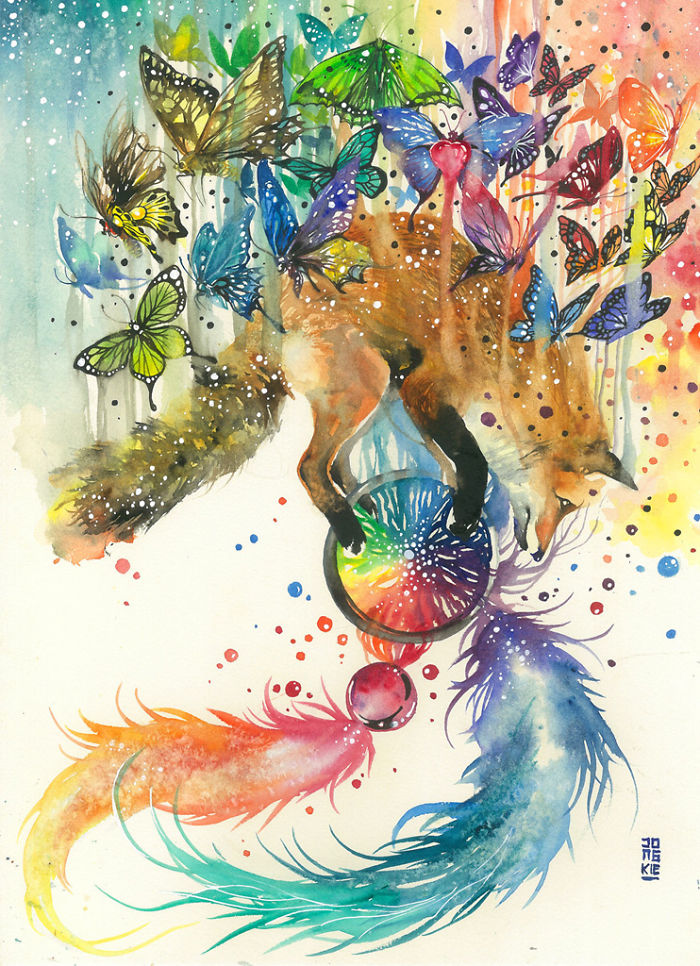 beautiful-Animal-Illustrations-In-Watercolor-paintings (2)