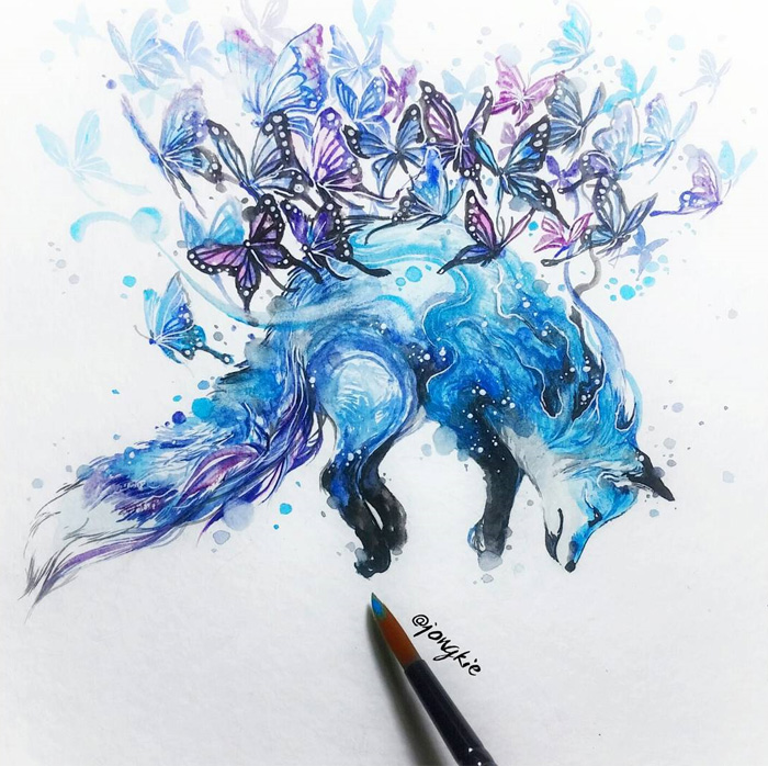 beautiful-Animal-Illustrations-In-Watercolor-paintings (22)