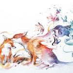 Imaginative and impressive watercolor paintings
