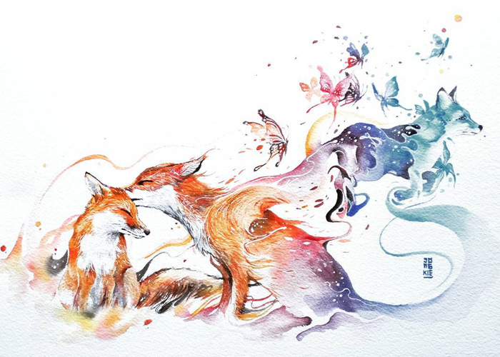 beautiful-Animal-Illustrations-In-Watercolor-paintings (23)