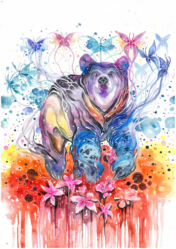 beautiful-Animal-Illustrations-In-Watercolor-paintings (3)