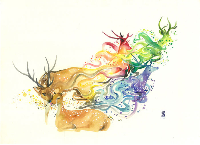 beautiful-Animal-Illustrations-In-Watercolor-paintings (4)